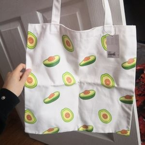 BNWT avocado canvas tote 🥑